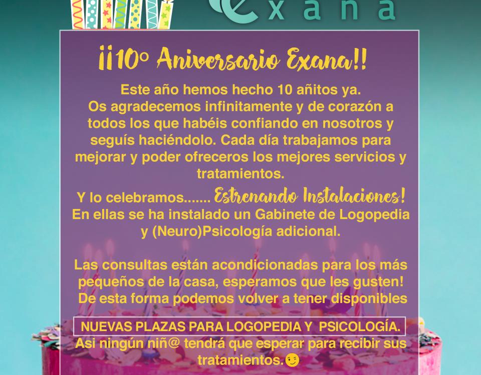 ¡10º Aniversario Exana!