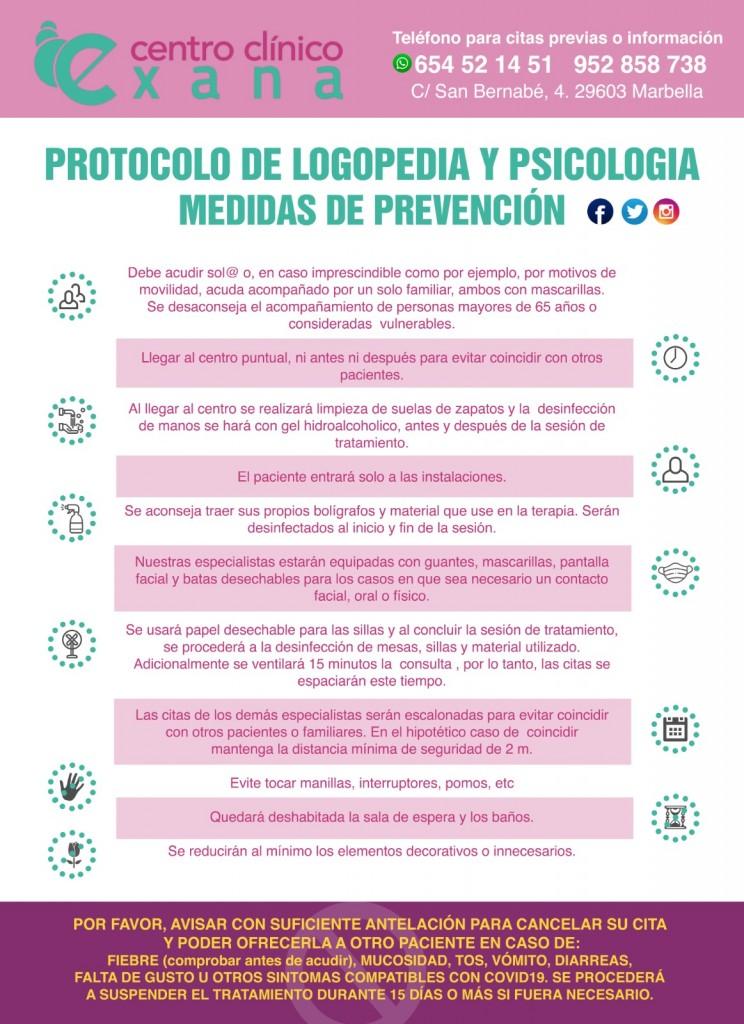Exana - Protocolo logopedia y Psicología