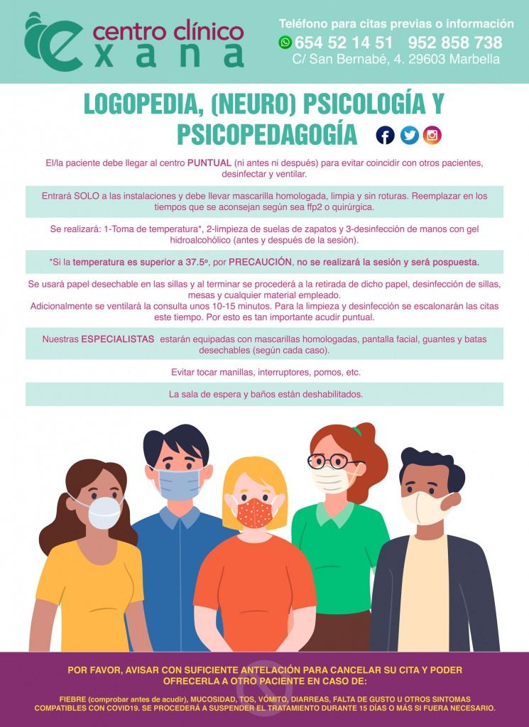 Exana - medidas-covid-v2 - logopedia-psicologia